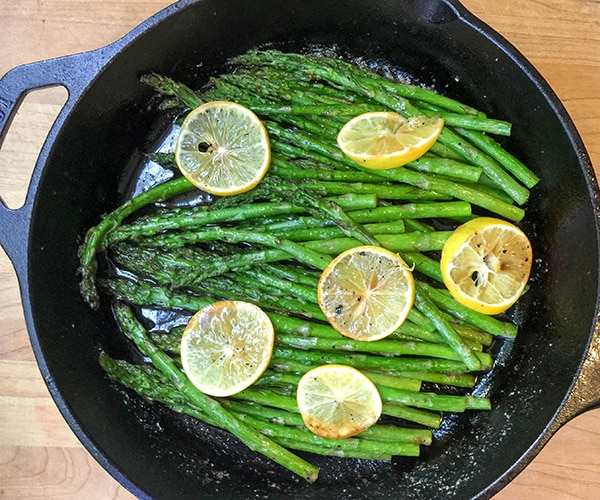 Roasted Asparagus with Lemon Browned Butter Balsamic Sauce ...