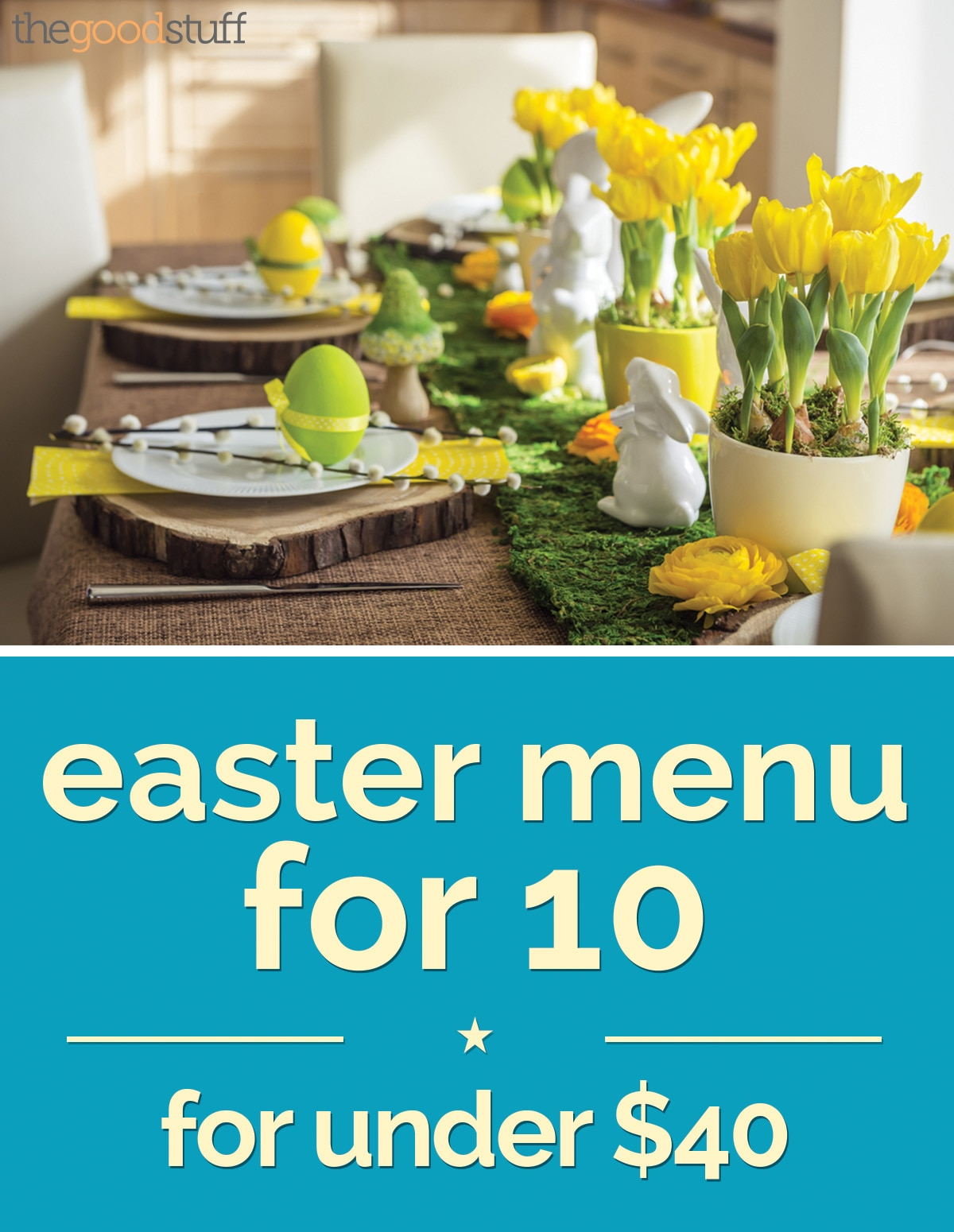 Easter menu for 10 for under $40
