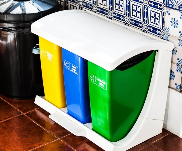 11 ideas for easier recycling at home thegoodstuff for Waste materials at home