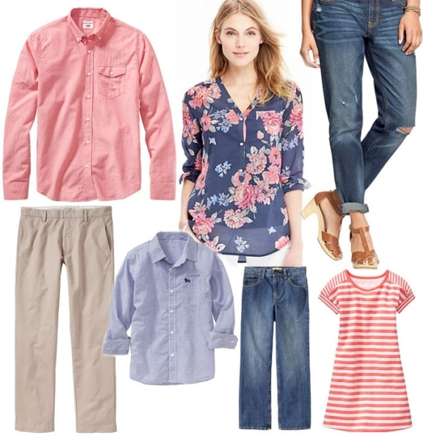 5 Spring Family Portrait Outfit Ideas From Old Navy