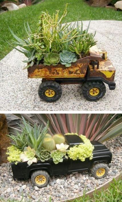 15 Upcycled Planters Turn Trash into Treasure - thegoodstuff