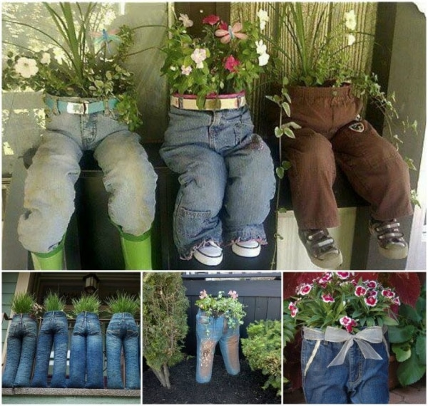15 upcycled planters turn trash into treasure thegoodstuff for Flower pot making with waste material