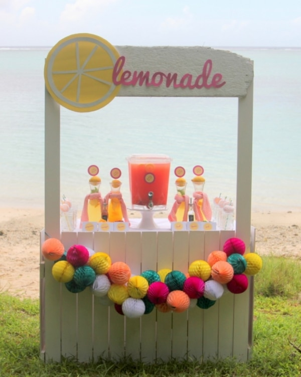 15. beachy lemonade stand