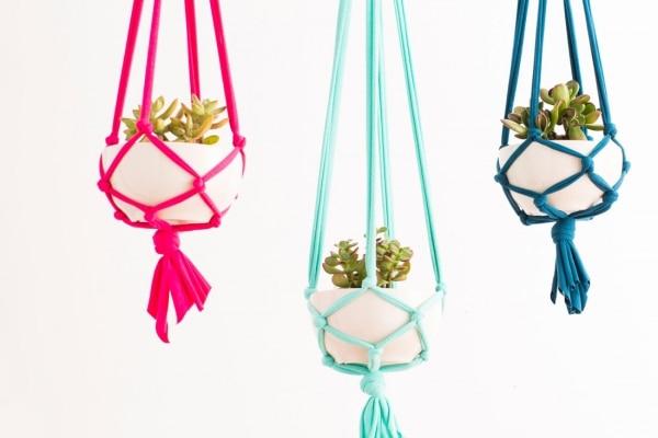 18. macrame hanging planter