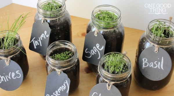 21. mason jar herb garden