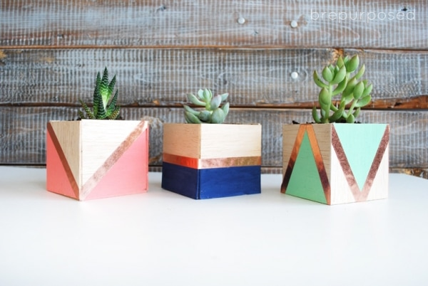 7. balsa wood planters