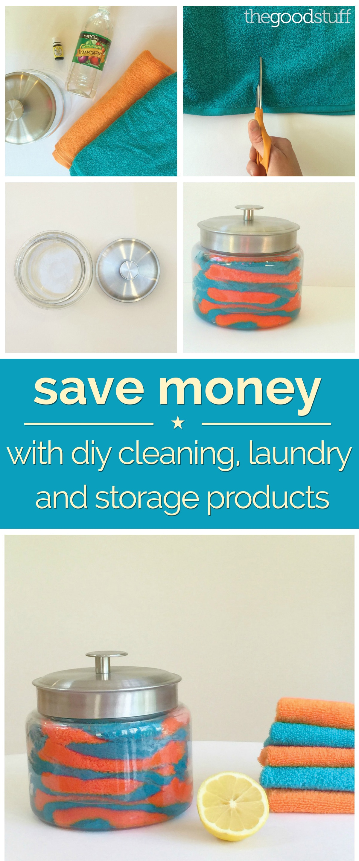 Save Money With DIY Cleaning, Laundry and Storage Products | thegoodstuff