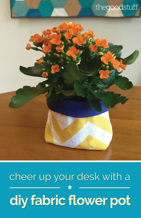 Cheer up your Desk with a DIY Fabric Flower Pot | thegoodstuff