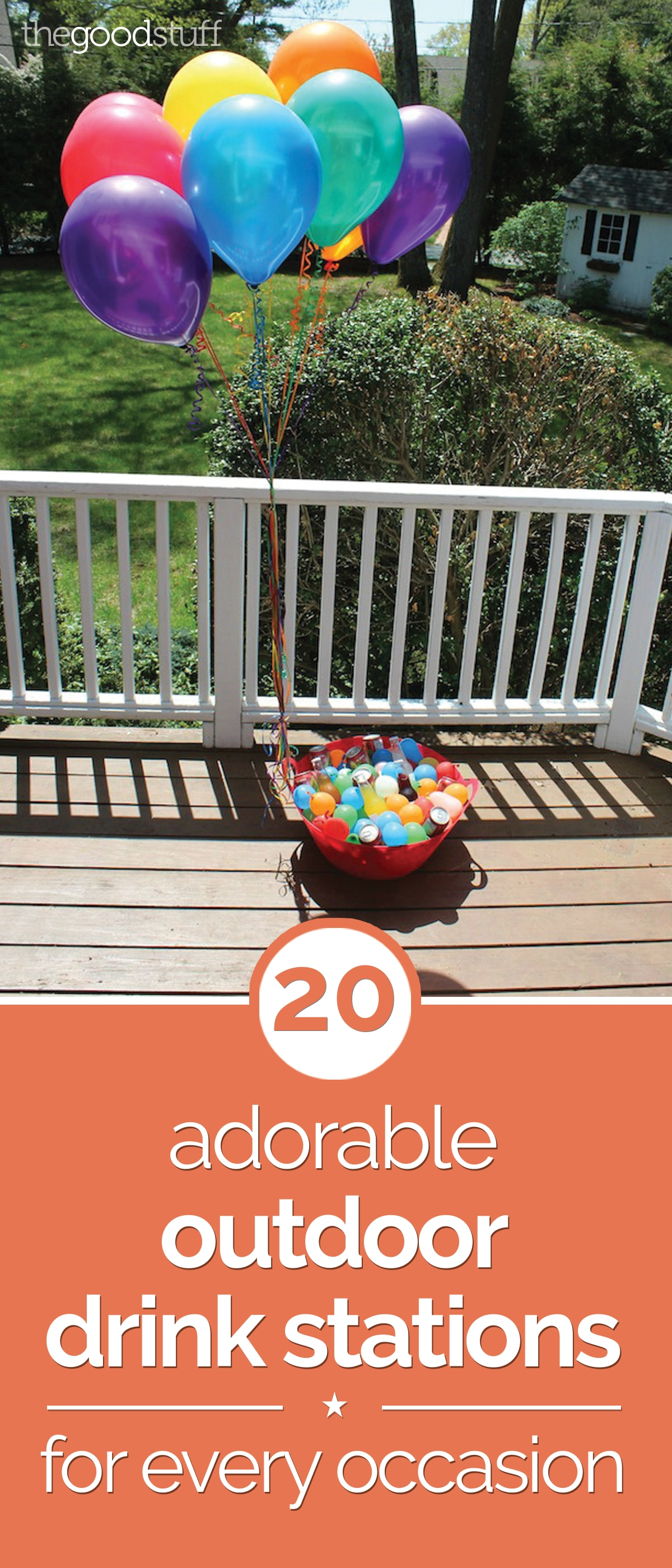 20 Adorable Outdoor Drink Stations For Every Occasion | thegoodstuff