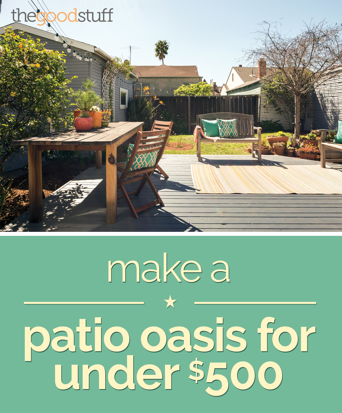 Patio Decorating Ideas For Under $500 | Thegoodstuff