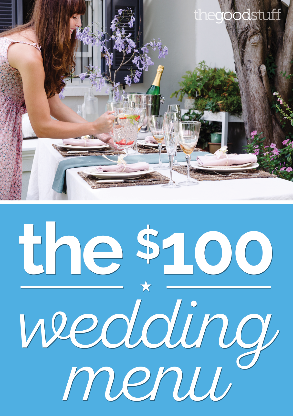 A DIY Wedding Menu for Just $100 | thegoodstuff