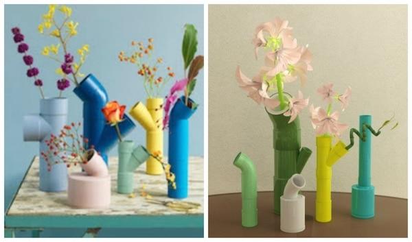 PVC Pipe Vase Centerpieces | thegoodstuff
