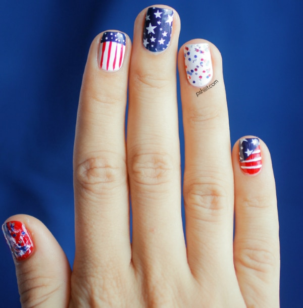 10 Ideas for Patriotic 4th of July Nails - thegoodstuff