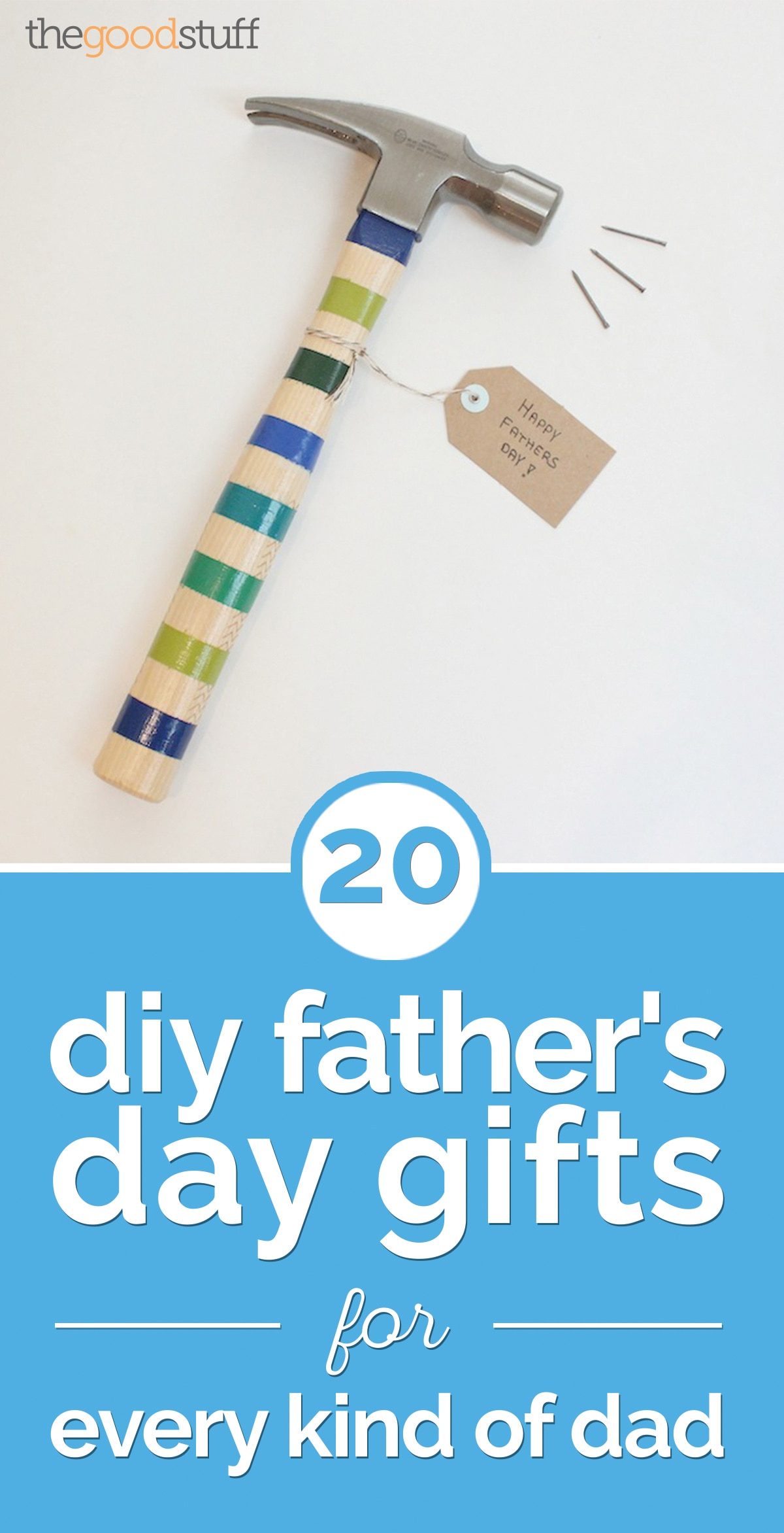 20 DIY Father's Day Gifts for Every Kind of Dad | thegoodstuff