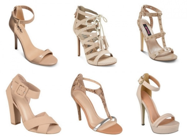 Nude Heels For Bridesmaids - Qu Heel