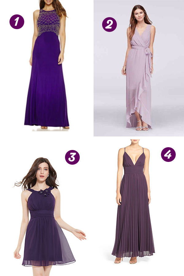 Purple Bridesmaid Dresses | thegoodstuff