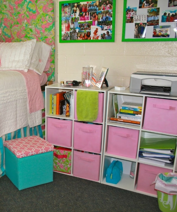 15 Creative & Cozy College Dorm Room Storage Ideas | thegoodstuff