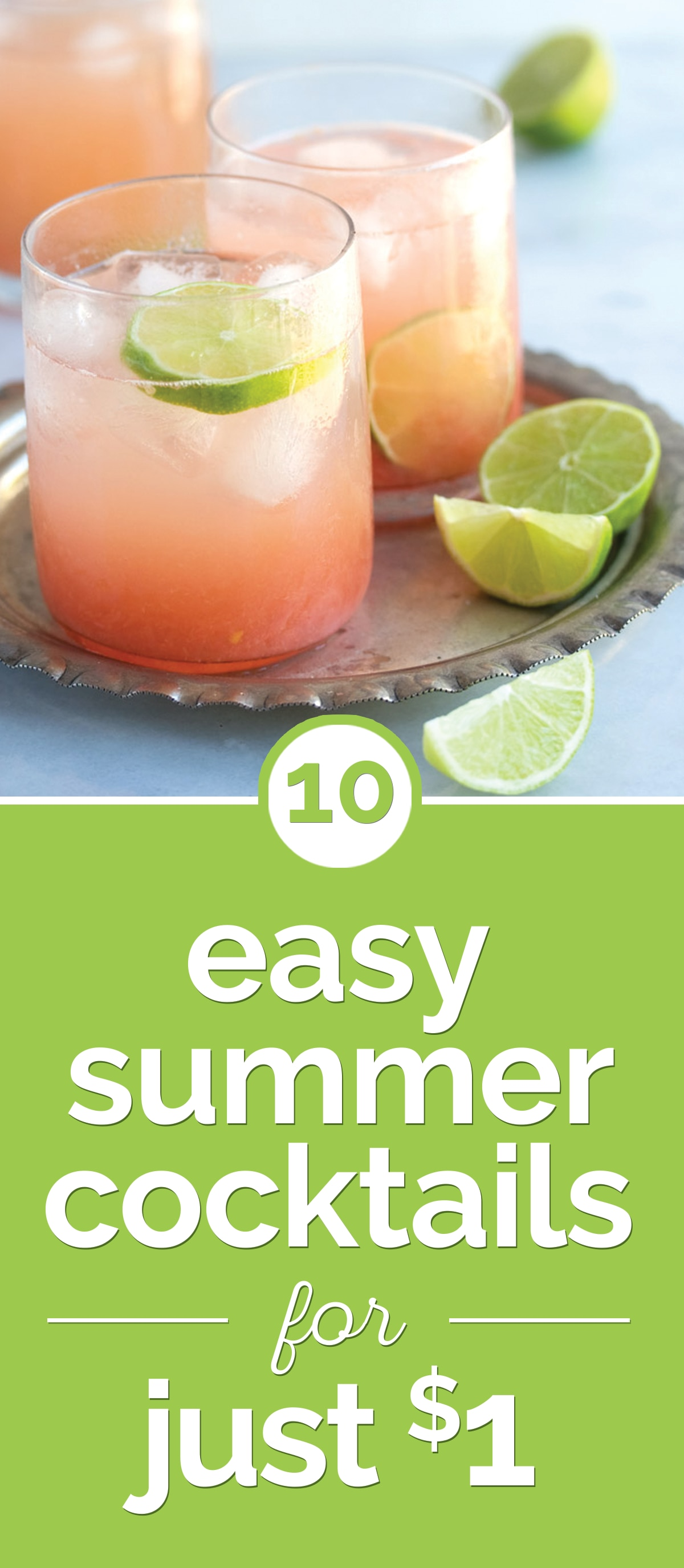 10 Easy Summer Cocktails for Just $1 | thegoodstuff