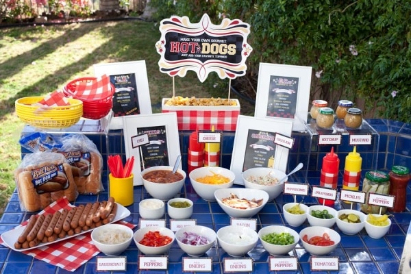 7 fun hot dog recipes just for kids thegoodstuff for Food bar ideas for a party