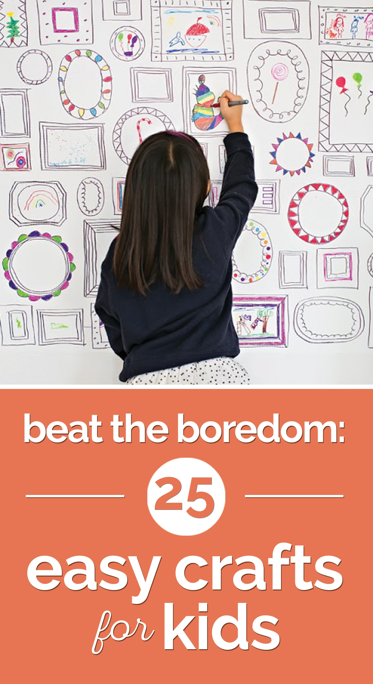 Beat the Boredom: 25 Easy Crafts for Kids | thegoodstuff