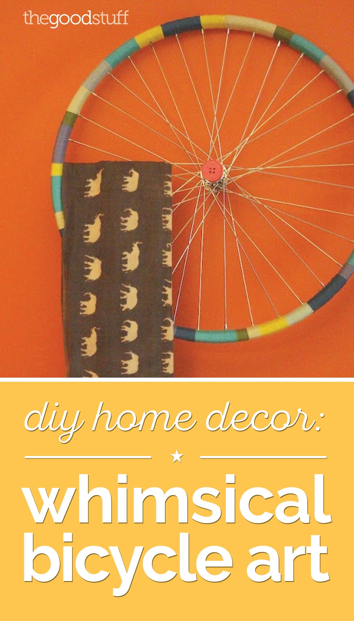 DIY Home Decor: Whimsical Bicycle Art | thegoodstuff
