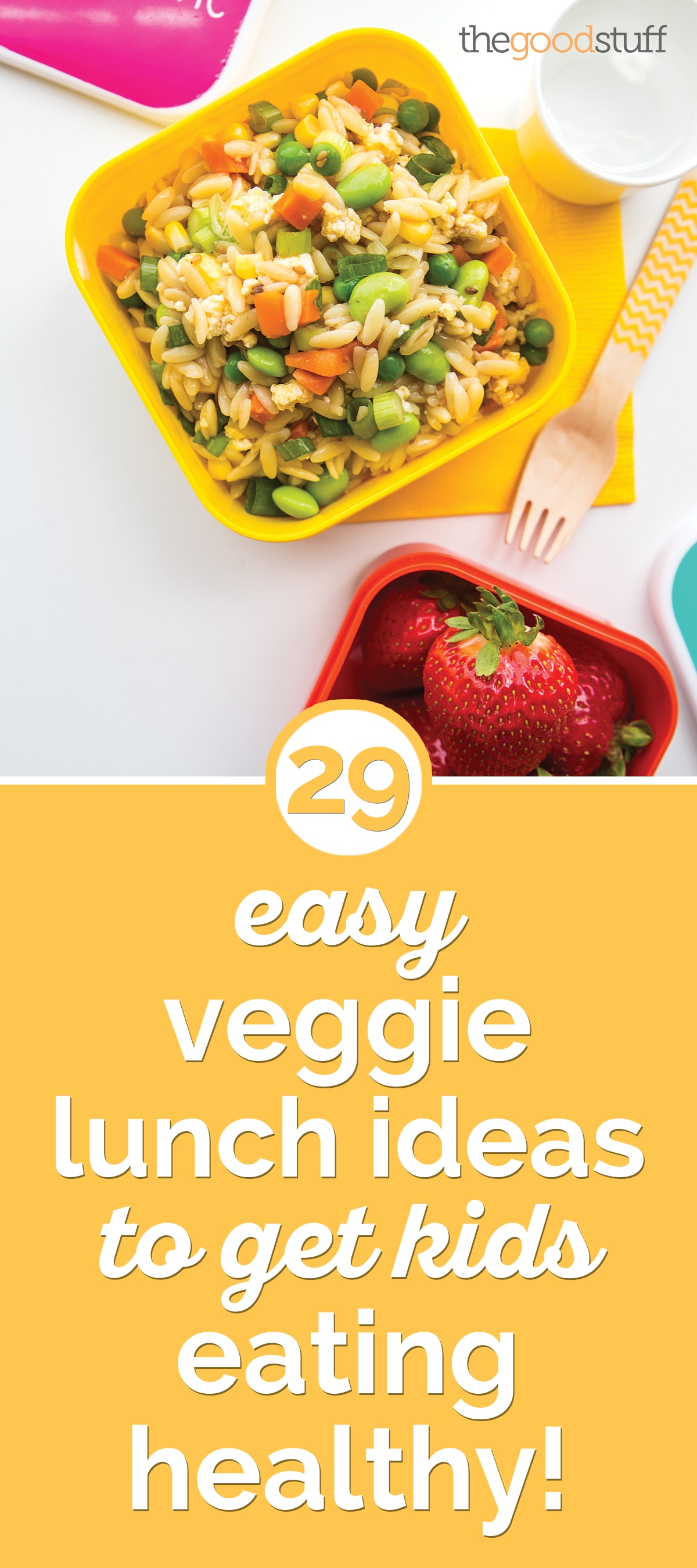 29 Easy & Healthy Veggie Lunch Ideas for Kids | thegoodstuff