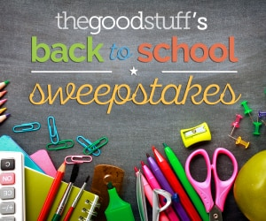 The Good Stuff's Back to School Sweepstakes