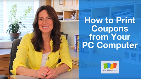 VIDEO: How to Print Coupons From Your PC Computer | thegoodstuff