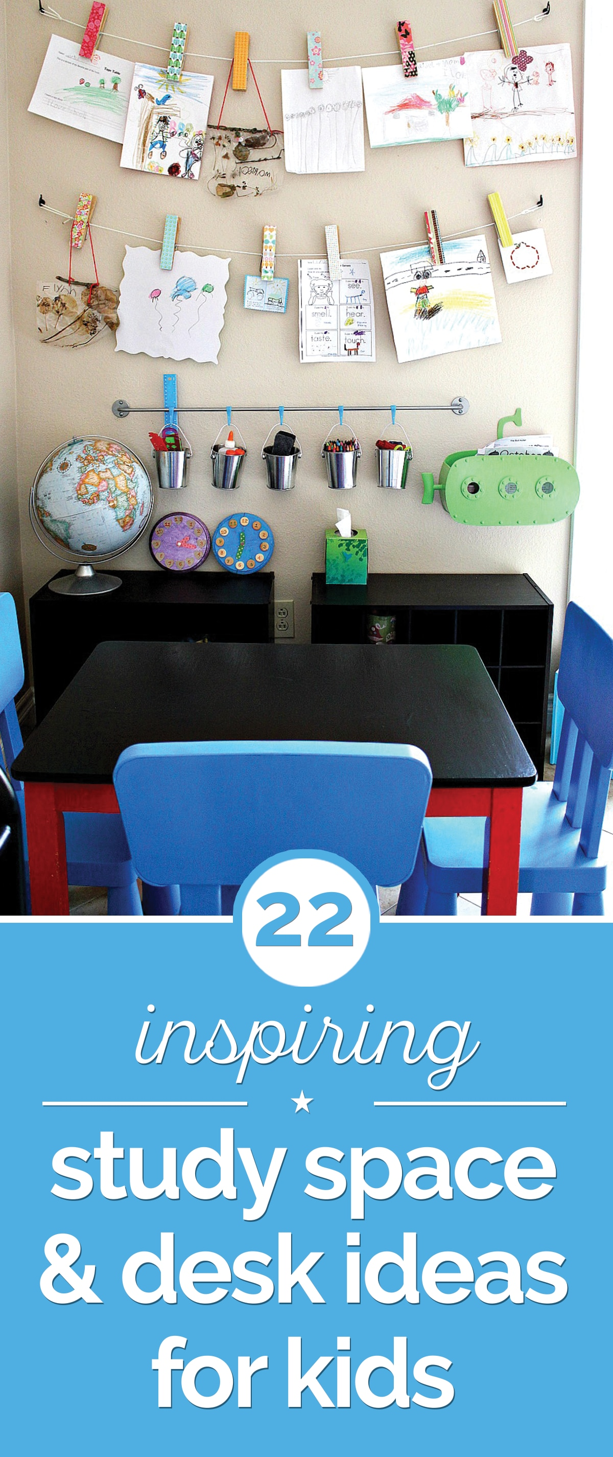 22 Inspiring Study Space & Desk Ideas for Kids | thegoodstuff