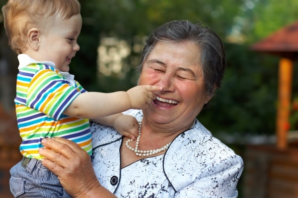 Grandson playing with grandmom | thegoodstuff