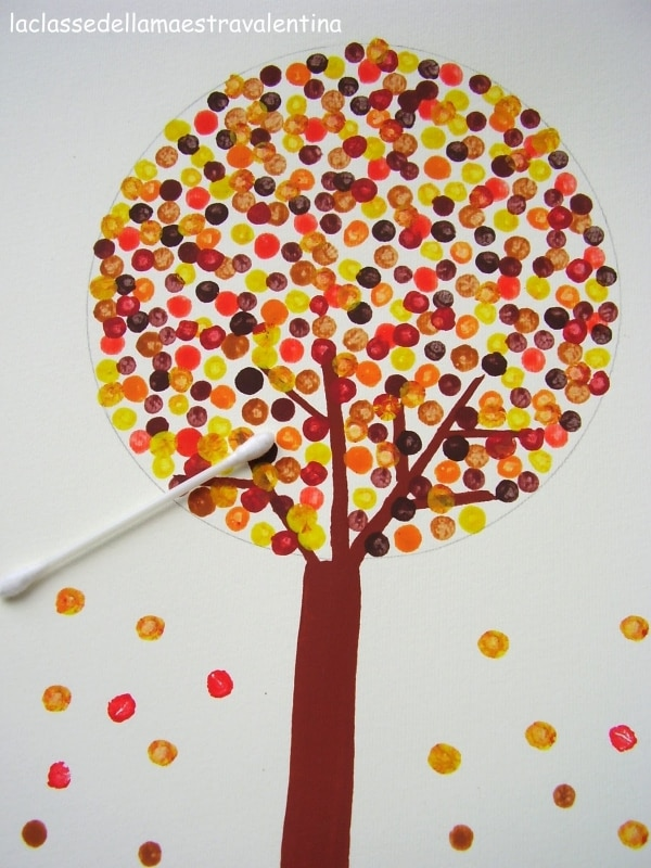 Class Button Tree Art Project Ideas