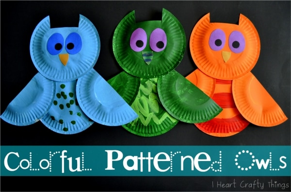colorful paper plate owl celebrate the season 25 easy fall crafts for 3677
