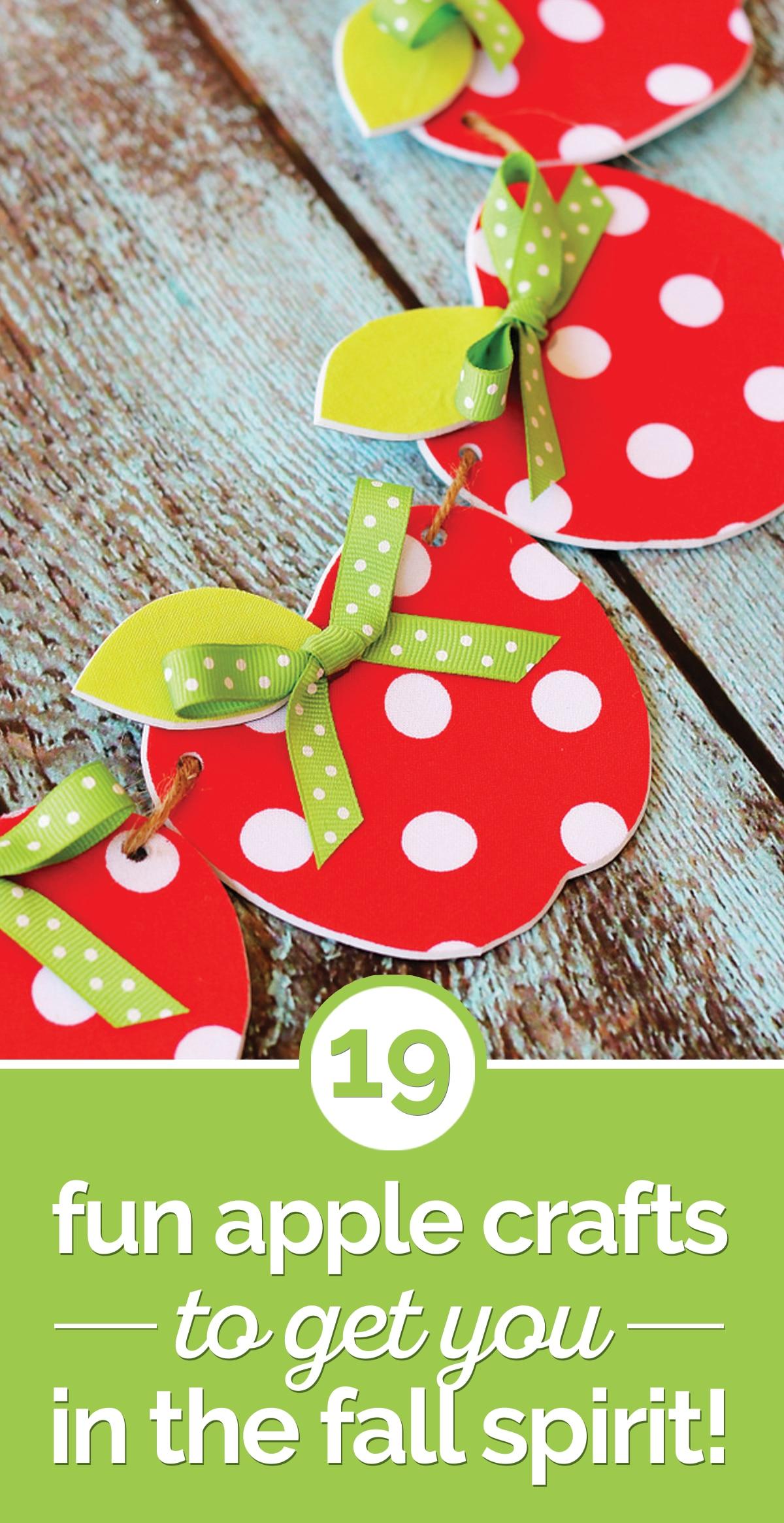 19 Fun Apple Crafts to Get You In the Fall Spirit!   thegoodstuff