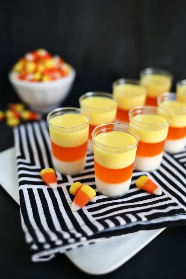 Beware! The 10 Best Halloween Cocktails: Candy Corn Jell-O Shots | thegoodstuff