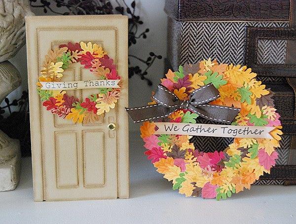 20 DIY Thanksgiving & Christmas Wreath Ideas: Mini Punch Wreaths | thegoodstuff