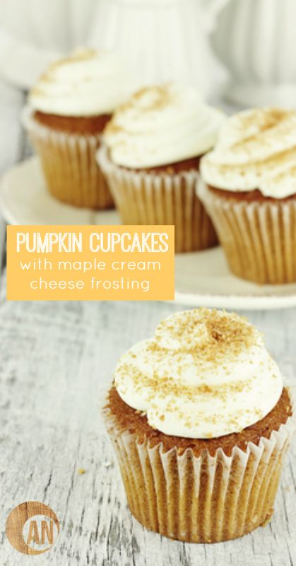 Easy Baking Recipes with Sugar Substitutes: Pumpkin Cupcakes with Maple Cream Cheese Frosting | thegoodstuff