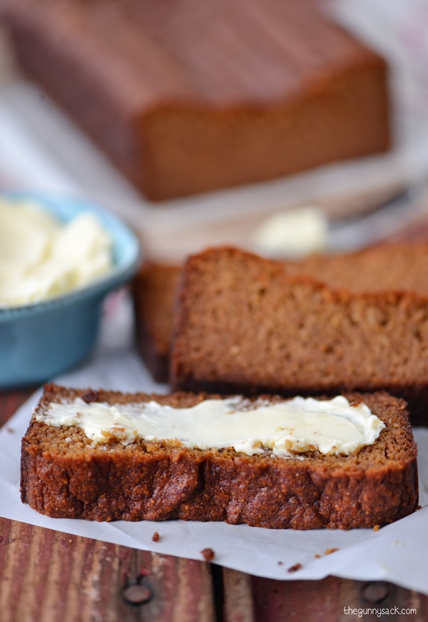 Easy Baking Recipes with Sugar Substitutes: Pumpkin Gingerbread | thegoodstuff