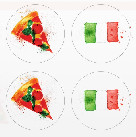 Hostess Helpers: Free Pizza Party Printables: Adults' Pizza Party Cupcake Toppers | thegoodstuff