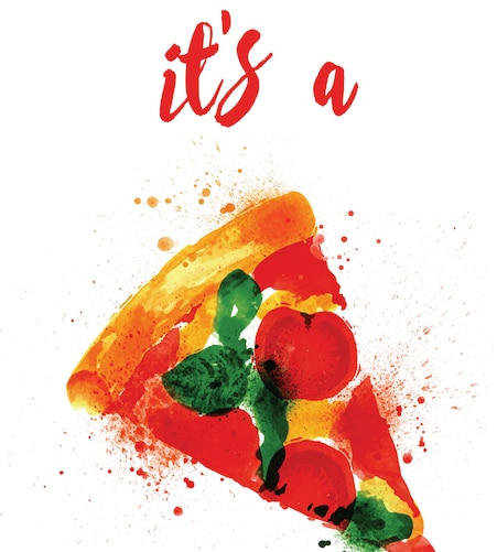 Hostess Helpers: Free Pizza Party Printables: Adults' Pizza Party Poster | thegoodstuff