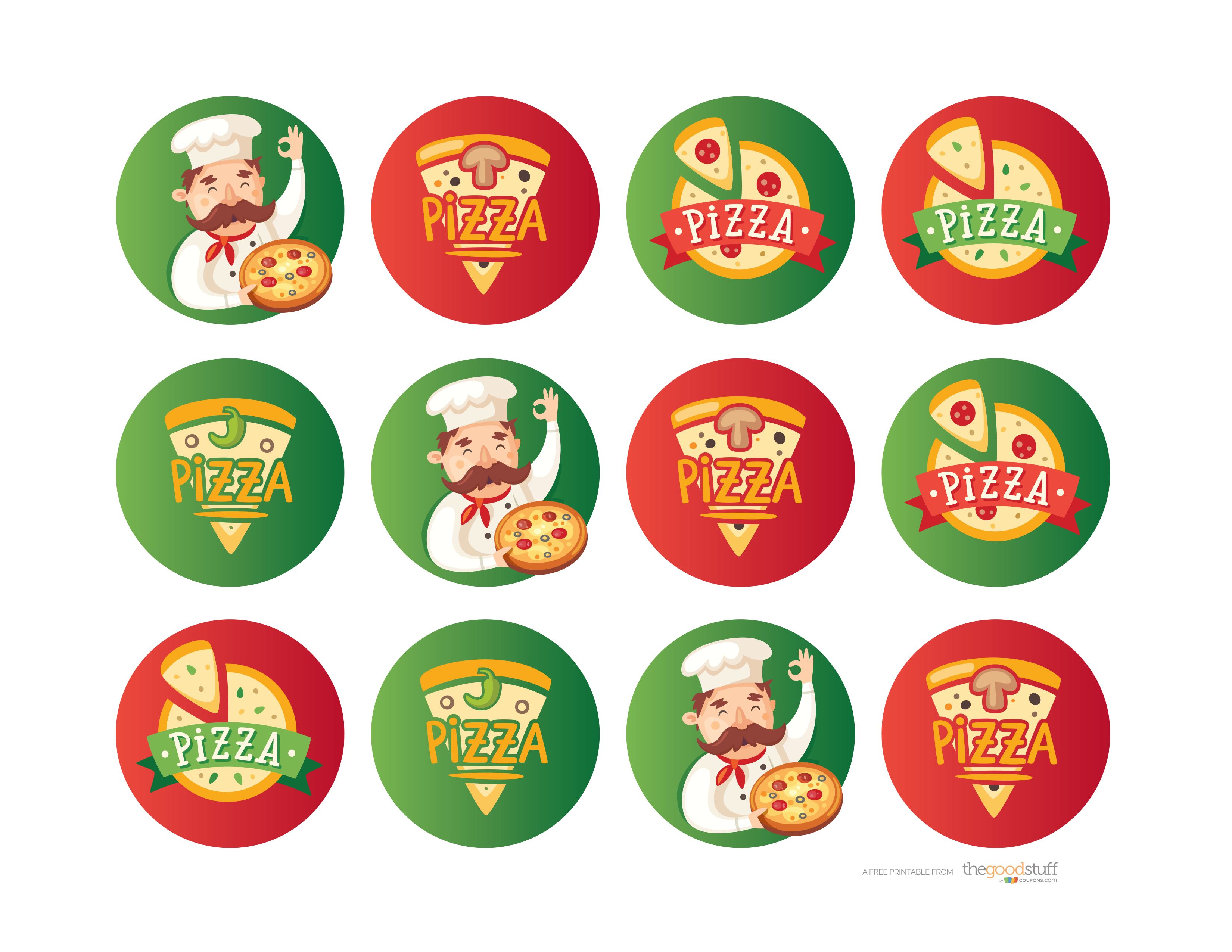 Hostess Helpers: Free Pizza Party Printables - thegoodstuff