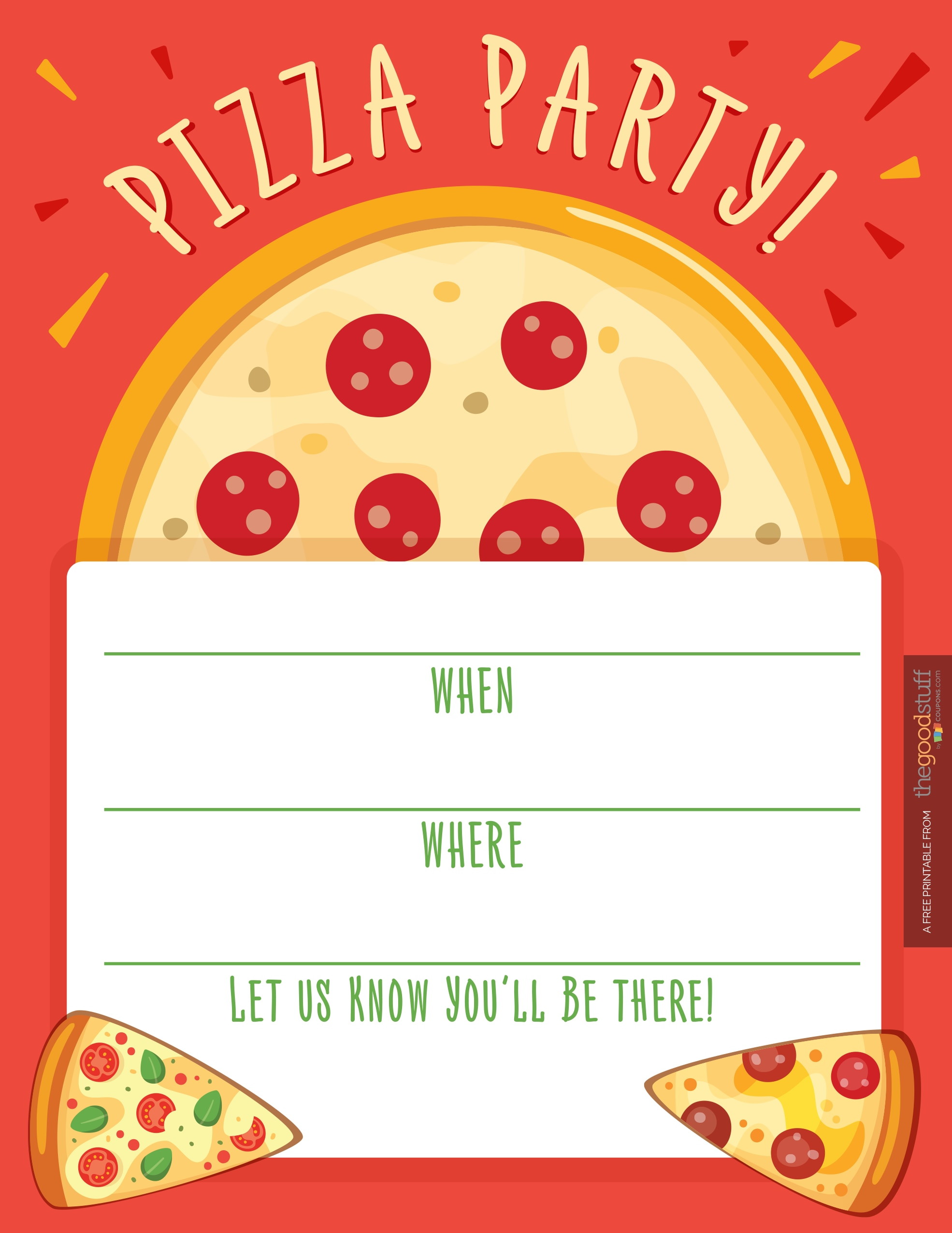 picture about Pizza Printable identified as Hostess Helpers: Free of charge Pizza Bash Printables - thegoodstuff