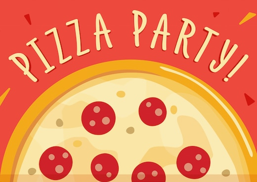 Hostess Helpers: Free Pizza Party Printables: Kids' Pizza Party Invitation | thegoodstuff