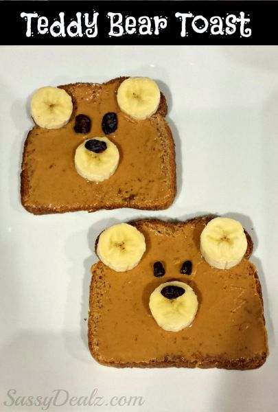 6 Easy, Healthy Breakfast Ideas for Kids: Teddy Bear Toast | thegoodstuff