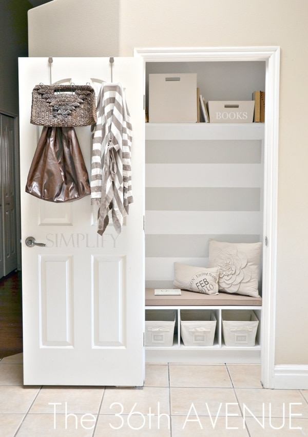 How to Organize Your Entryway: Mudroom in a Closet | thegoodstuff