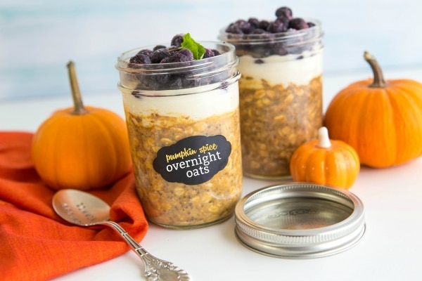 Morning Treat: Pumpkin Spice Overnight Oats Recipe | thegoodstuff