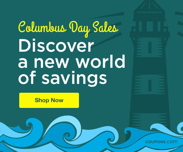 Sail Away with Savings: 17 Columbus Day Sales 2015 | thegoodstuff