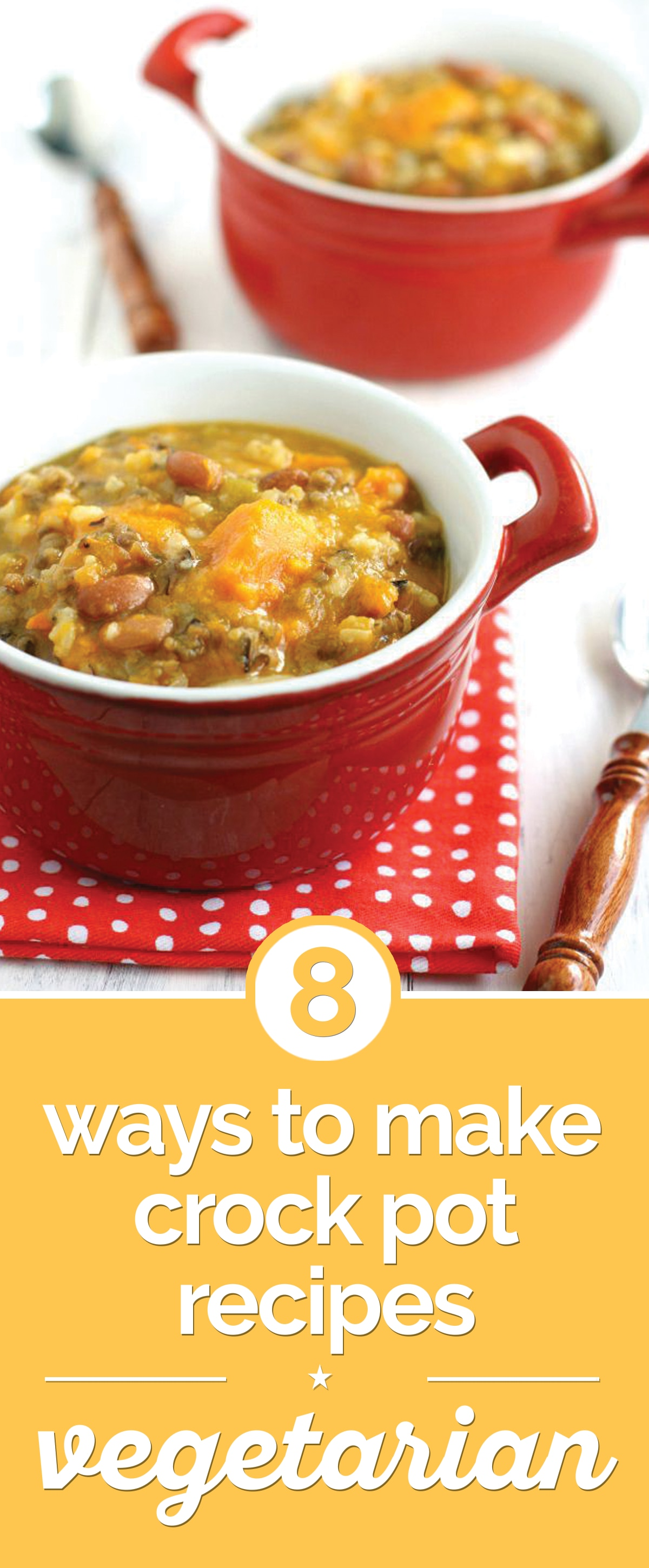 8 Ways to Make Crock Pot Recipes Vegetarian | thegoodstuff