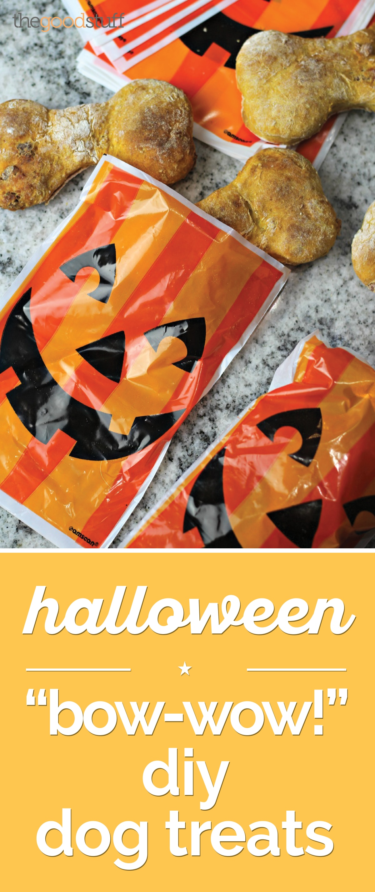 "Halloween ""Bow-Wow!"" DIY Dog Treats [Recipe] 