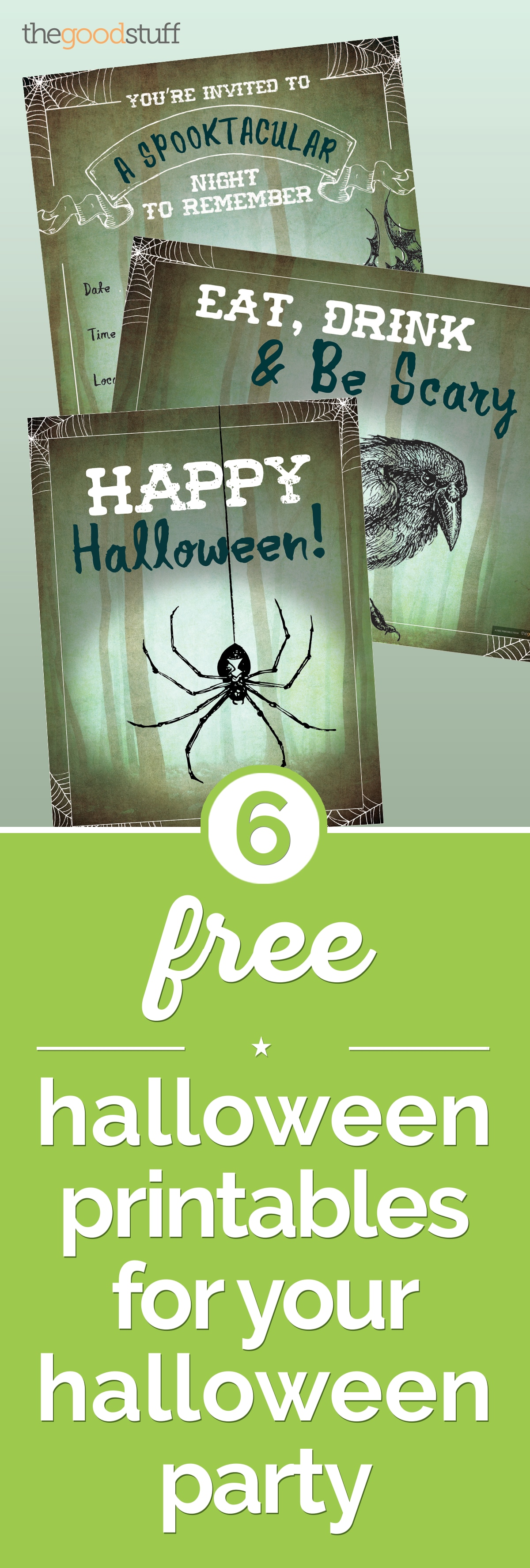6 Free Halloween Printables for Your Halloween Party | thegoodstuff
