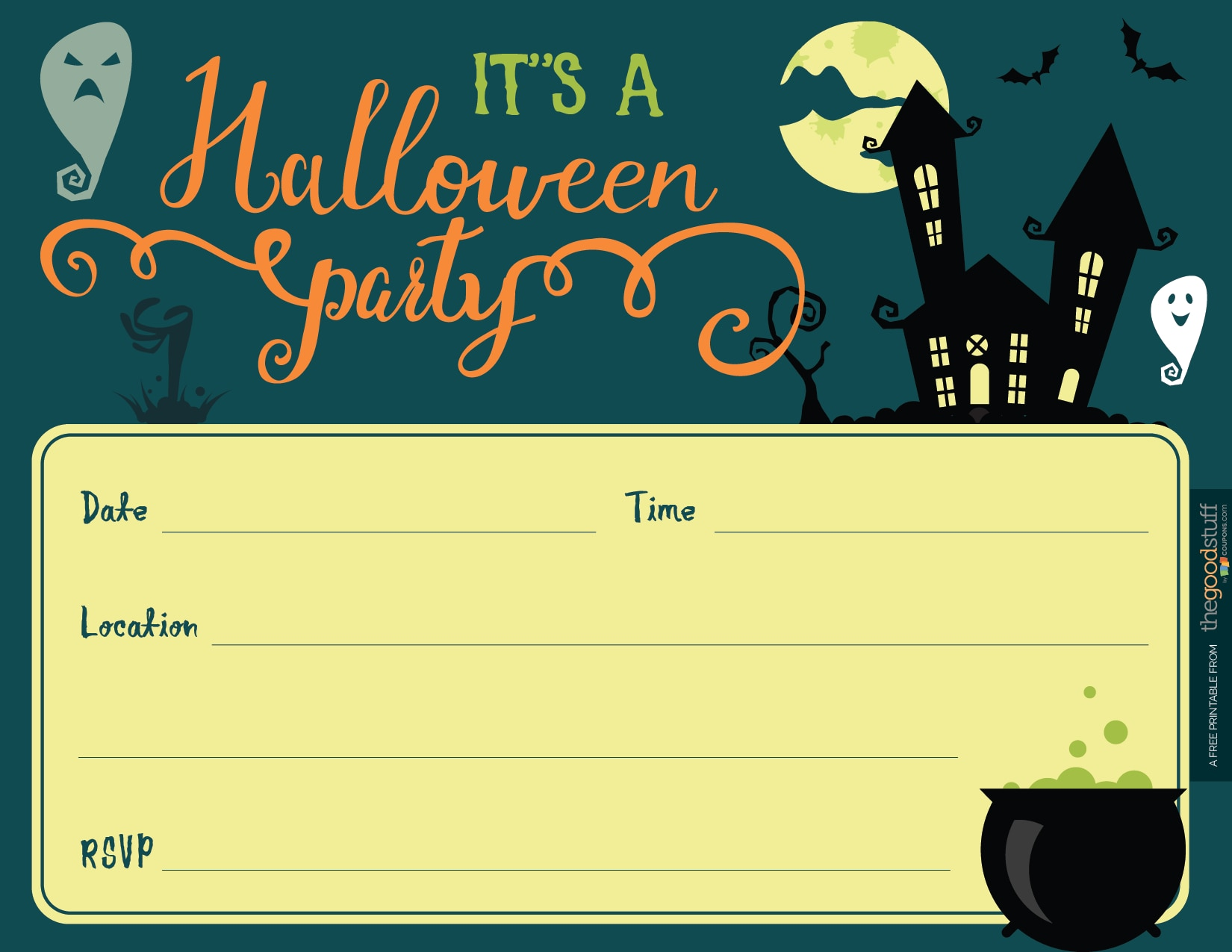It is an image of Free Printable Halloween Invitations in teenage